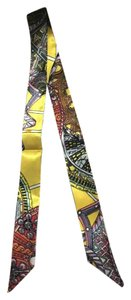 Other Yellow silk twilly purse scarf