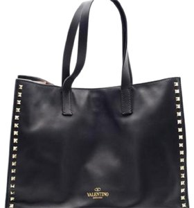 Valentino Tote in black with gold studs
