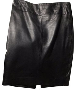 Cache Leather Lambskin Mint Short Skirt black