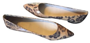J.Crew Made In Italy Light Walnut Black Flats