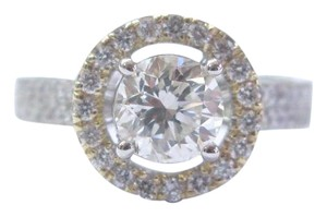 Other Fine Round Cut Diamond Halo 2-Tone Engagement Ring 1.68Ct H-VS2 IGI