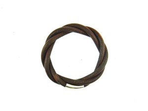 Hermès Rare Bulky Braided Leather Bracelet France w/ Box