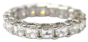 Other Fine Asscher Cut Diamond Eternity Ring 3.80Ct WG Sz5