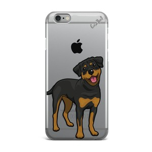 Case Yard NEW Clear Plastic IPhone Case with Rottweiler Design, Size 6/6s