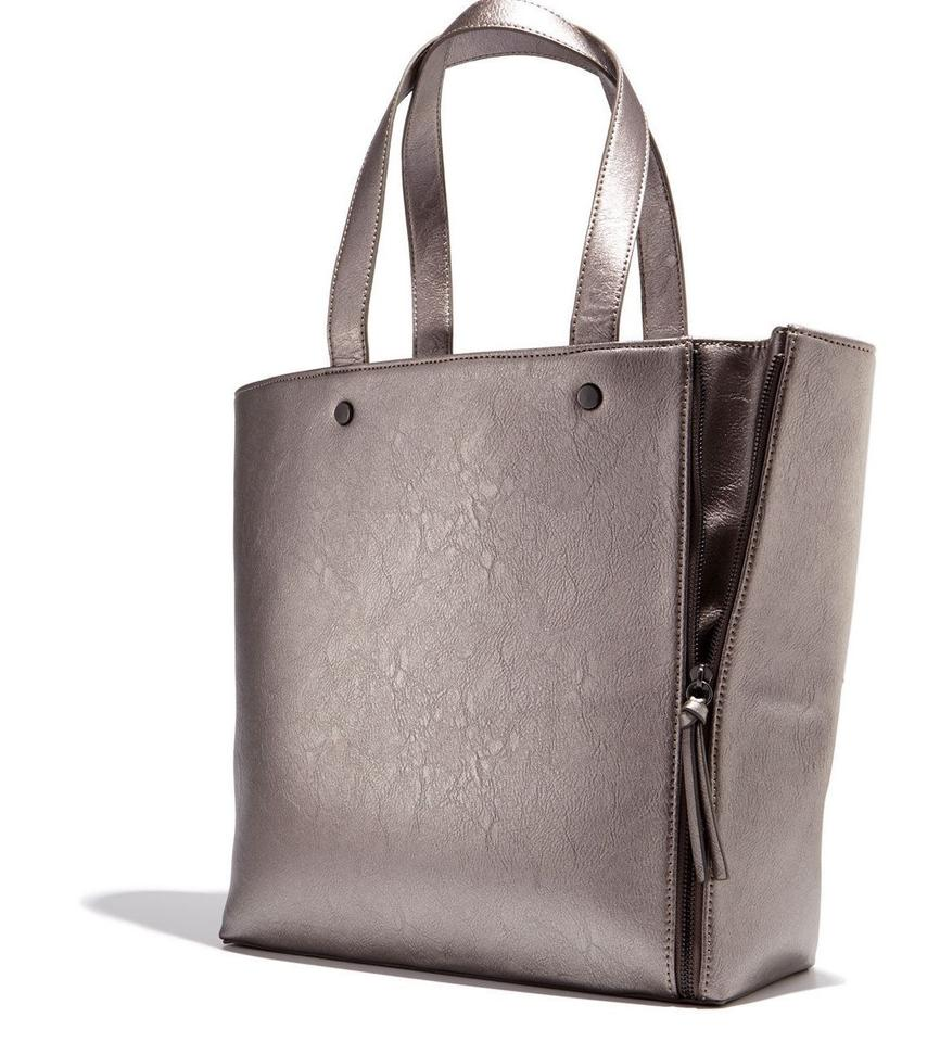 Neiman Marcus Handbag Hand Shoulder Fashion Tote In Silver