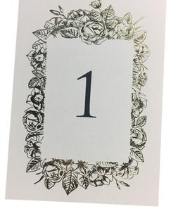 Foiled-pressed Table Numbers (1-24)