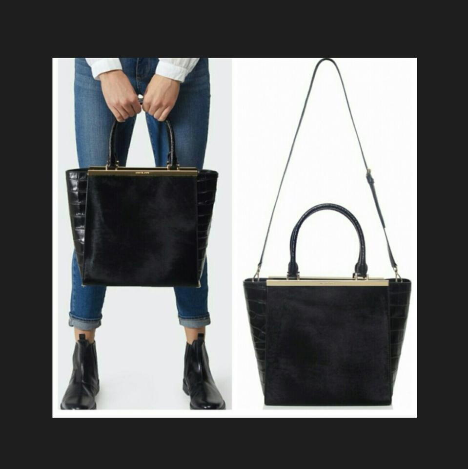 6842ee263363 Michael Kors The Lana Matching Wallet Black Calf Hair & Crocodile Leather  Tote - Tradesy