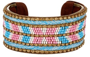 Chamak by Priya Kakkar Chamak Authentic Chevron Beaded Festival Cuff New