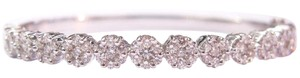 Other 18Kt Flower Cluster Diamond Bangle Bracelet White Gold 5.15CT