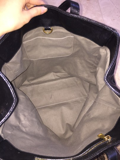 Marc Jacobs Leather Luggage Tote in Black