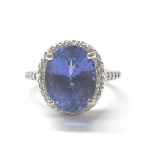 Other 18Kt Gem Tanzanite Diamond Anniversary Ring White Gold 5.94CT