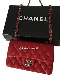 Chanel Lamskin Mini Ruthenium Hardware Cross Body Bag