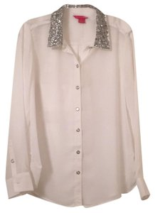 Sunny Leigh Button Down Shirt white