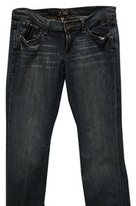 Lucky Brand Lucky Distressed Short Petite Straight Leg Jeans-Distressed
