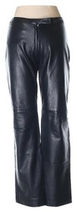 BCBGMAXAZRIA Leather Straight Pants black