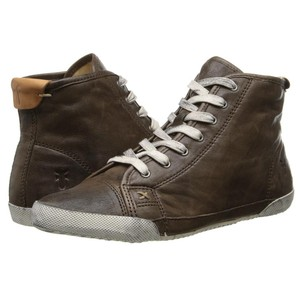 Frye Leather Leatherhightops Boho Trendy Chocolate Athletic