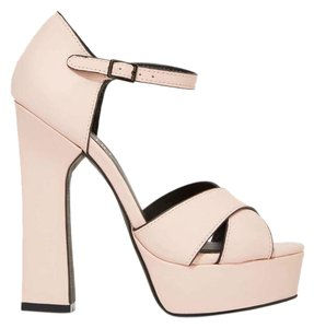 38950355a59 Nasty Gal Faux Leather Vegan Pale Pink Sandals