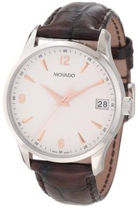 Movado Movado Circa Brown Leather Mens Watch 0606570 [606570]