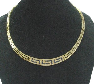 Other 18Kt Gem Sapphire Diamond Yellow Gold Necklace 63 Grams 3.66CT 17