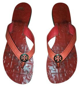 Tory Burch Red Volcano Sandals