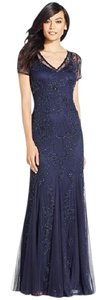 Adrianna Papell Evening Gown V-neck Dress