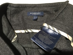Burberry London Made In France Cashmere Angora Wool Stretch Straight Pants DARK GRAY