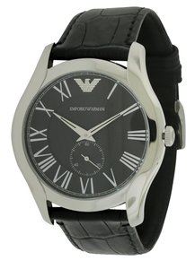 Emporio Armani Emporio Armani Black Croco Leather Mens Watch AR1703