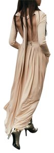 Gold Tan Maxi Dress by Céline
