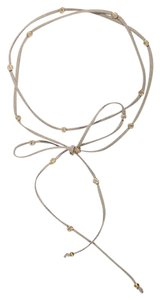 Other Gray Gold Crystal Stone Tie Choker Necklace