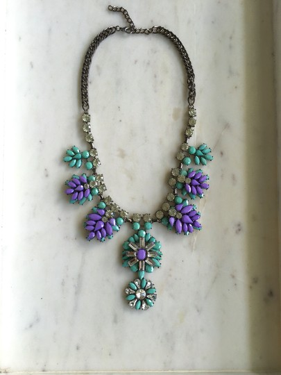 Preload https://img-static.tradesy.com/item/20989987/mint-green-lavender-purple-and-stone-statement-necklace-0-0-540-540.jpg
