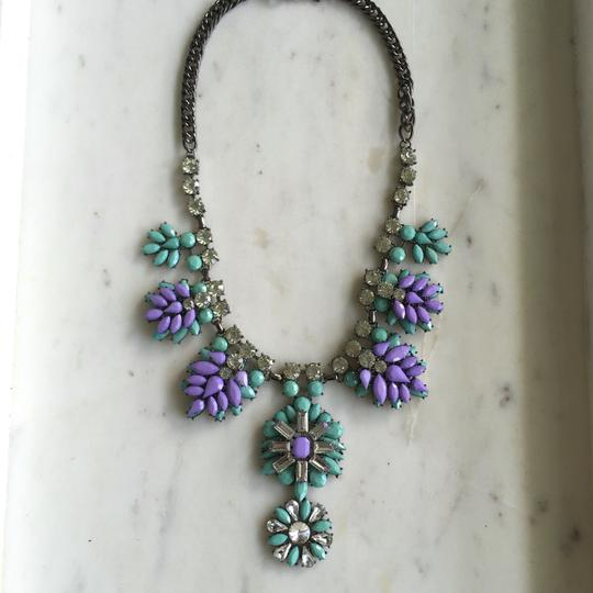 Other Mint Green and Lavender Purple Stone Statement Necklace
