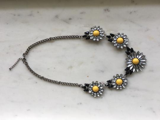 Other Daisy Black Yellow Clear Stone Statement Necklace