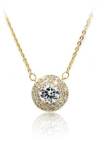 Ocean Fashion Sparkling crystal clavicle gold necklace
