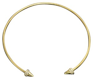 Other Gold Pave Point Collar Necklace