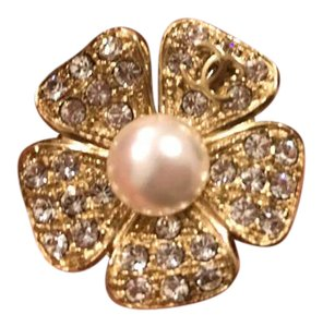 Chanel Chanel Gold Camelia Brooch