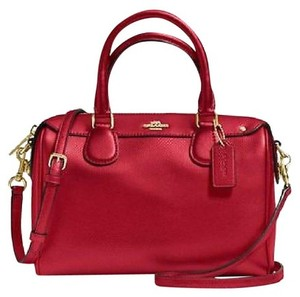 Coach Satchel in true red