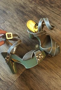 Marc by Marc Jacobs Chunky Heels Khaki Green Platforms