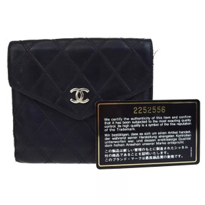 Chanel Lambskin Quilted Bifold Wallet