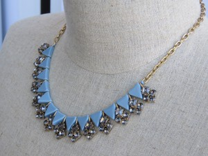 J.Crew Light Blue Crystal Necklace