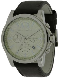 A|X Armani Exchange Armani Exchange Outerbanks Chronograph Leather Mens Watch AX2506