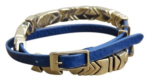 House of Harlow 1960 Blue Wrap Leather Bracelet