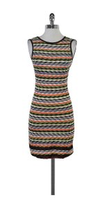 Missoni short dress Multi Color Scalloped Knit Sleeveless on Tradesy