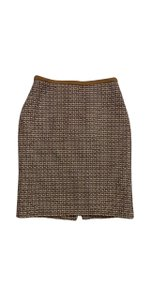 Ellen Tracy Gold Tweed Skirt
