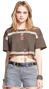 Free People T Shirt Brown