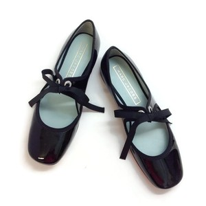 Marc Jacobs Mary Jane Bow Grosgrain black patent Flats