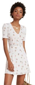Reformation short dress White, Floral on Tradesy