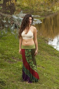 Other Hippie Boho The Treasured Hippie Handmade Maxi Skirt Olive