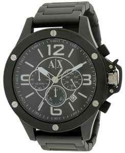 A|X Armani Exchange Armani Exchange Black Stainless Steel Chronograph Mens Watch AX1503