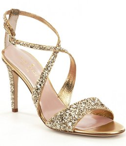 Kate Spade Glitter Stiletto Sandal Gold Formal
