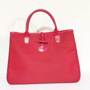Longchamp Tote in red